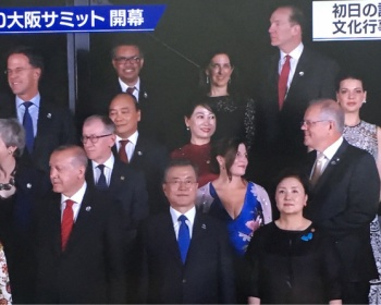 【G20】大阪城をバックに各国首脳と配偶者が写真に(画像あり)