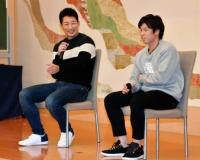 【阪神】梅野、岩崎が同級生コンビでトークショー 梅野が岩崎の毒舌ぶりを告白