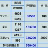 『【10月4日 持ち株評価損益】』の画像