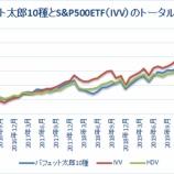 『バフェット太郎10種とS&P500ETFトータルリターン比較【60カ月目】』の画像