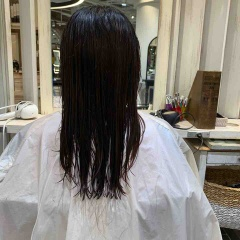 表参道 神宮前 東京都内で美髪パーマが得意な美容室ミンクス原宿 須永健次 ロングにナチュラルなデジタルパーマをかけてみました
