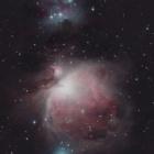 『オリオン座の大星雲(M42)ランニングマン星雲(NGC1977)』の画像