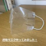 『話題の【透明マスク】を作ってみました!【手話通訳】』の画像