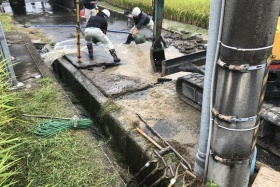 交野市の断水。水道管損傷した場所がこちら〜復旧工事が進んでる〜
