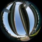『円周魚眼レンズによる港北IC 2019/12/10』の画像