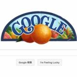 『(番外編)セント・ジョルジ・アルベルト生誕118周年ということでGoogleのトップページが変わっています』の画像