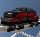 車に乗ったまま楽しめるテーマパーク、特許出願…ジェットコースターも車ごと走る!