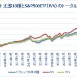 『バフェット太郎10種とS&P500ETFのトータルリターン【63カ月目】』の画像