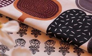 マリメッコの布を使ったインテリア