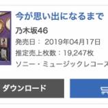 『【乃木坂46】ランキングは1位→2位へ…4thアルバム『今が思い出になるまで』4日目売り上げは19,247枚 累計422,264枚を記録!!!』の画像