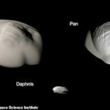 『地球の環と土星の環の違い』の画像