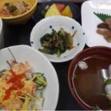 『1号館昼食(鮭のちらし寿司)』の画像