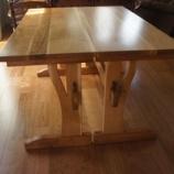『キルト教室用のテーブル・百目柿』の画像