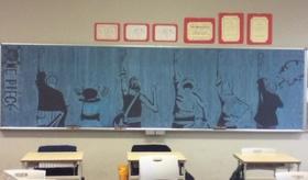 【日本の学校】    学生が 黒板に描いた チョークアートが 素晴らしい!   海外の反応