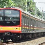 『【ラストメルヘン&ホワイトフェイス!?】205系武蔵野線M65編成社内試運転(1月7日)』の画像
