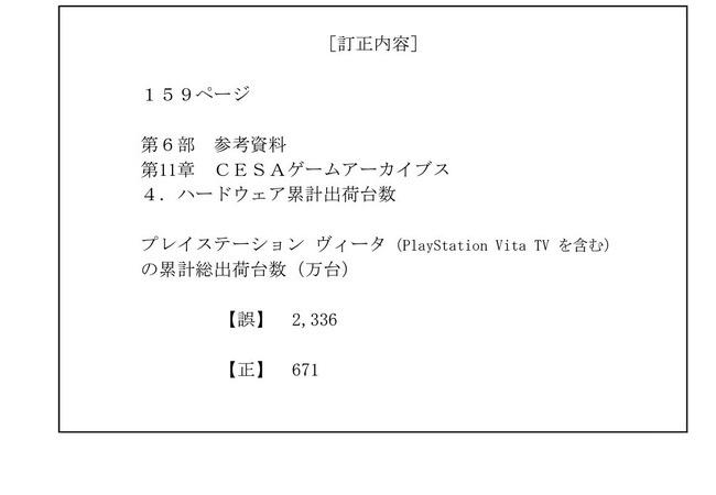【謎】「Vitaが2,336万台売れました!!」→「すみません、ちゃんと数えたら671万台でした…」