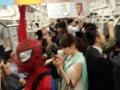 【画像あり】岡本夏生(48)がスパイダーマン姿で電車に乗り帰宅