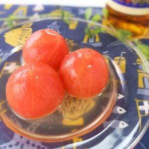 冷やして夏らしく♪コンソメトマト