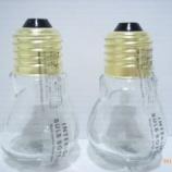 『月間1万個も売れた!?100均セリアの電球みたいな「インテリアバルブボトル」 1/3 【インテリアまとめ・一人暮らし 照明 】』の画像