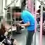 【動画】中国、地下鉄で可愛い女子に声をかけ拒絶された男、女子にパンチ食らわせ逃走! [海外]