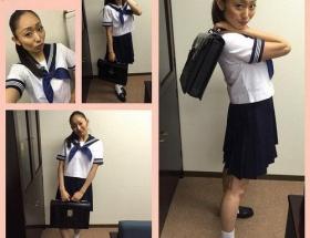 【画像】安藤美姫(27歳)がセーラー服姿を披露wwwwww