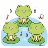 『【クリップアート】カエルの合唱のイラスト』の画像
