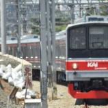 『まるで京葉線?205系武蔵野線M20編成社内試運転(12月2日)』の画像