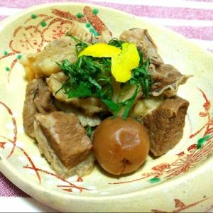 牛スジ肉の梅煮
