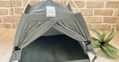 【ダイソー】おしゃれ!ワンコインのテント型ペットハウス