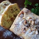 『クリスマス! イチジクとクルミ、チョコの簡単パウンドケーキ』の画像