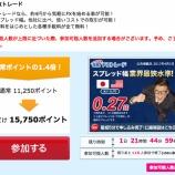 『SBIのFX口座を開設して1通貨取引するだけで15,750円ゲットするチャンス』の画像