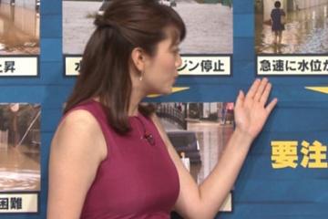 三谷紬という爆乳で女子アナになった女