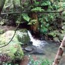 9月の連休 荷坂川の名無しの滝まで長靴で歩く 名無しなのに立派な滝!