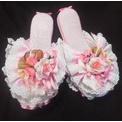 宝塚(タカラヅカ)化粧前一式◆ピンク×バラ◆楽屋スリッパ