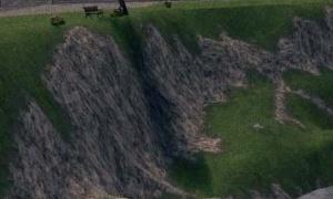 タラの絶壁にある危険なベンチ