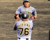 阪神のドラ4・遠藤、111打席目で公式戦初本塁打「ヨッシャー!」
