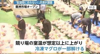 【悲報】豊洲市場、室温上昇で冷凍マグロが溶ける、排水が詰まるなど初日からボロボロ