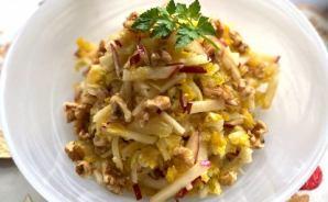 白菜と果物のコールスロー風レシピ