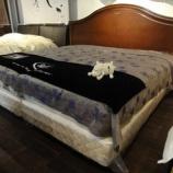 『【セール ベッド売場改装投売セール 2012夏】サータ社のアメリカントラッドスタイルのキングベッド・オークランド570』の画像