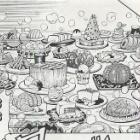 『トリコ食事シーン29巻5(小松の料理が美味しくて笑う三虎)』の画像