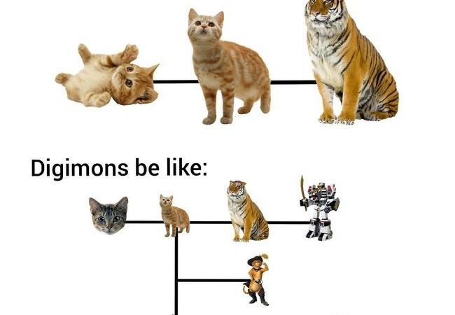 ポケモンとデジモンの進化の違いがひと目でわかる画像がこちら