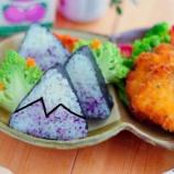 『富士山三角海苔巻きとチキンカツランチ』の画像