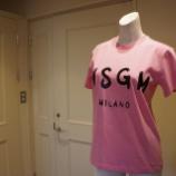 『MSGM(エムエスジーエム)手書きロゴTシャツ』の画像
