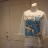 『ANVALIDES (アンヴァリッド)フロントプリント7分袖カットソー』の画像
