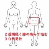 『≪2週間続く腰の痛みで悩む30代男性≫』の画像