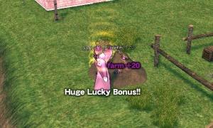 ファームストーンでHuge Lucky Bonus!! farm +20