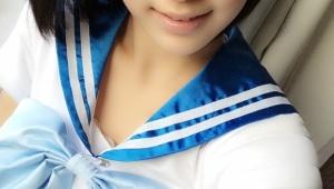HKT48宮脇咲良ちゃんのセーラーマーキュリーコスプレが可愛い