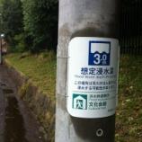 『戸田市内の電柱に水害発生時の「想定浸水深」が記された掲示が取り付けられています』の画像