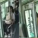 【動画】中国、走行中のバスの自動ドアが開き、何か勘違いした乗客が降りてしまう! [海外]