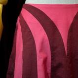 『切替フレアスカート RED×PNK PNK×RED 完成。』の画像